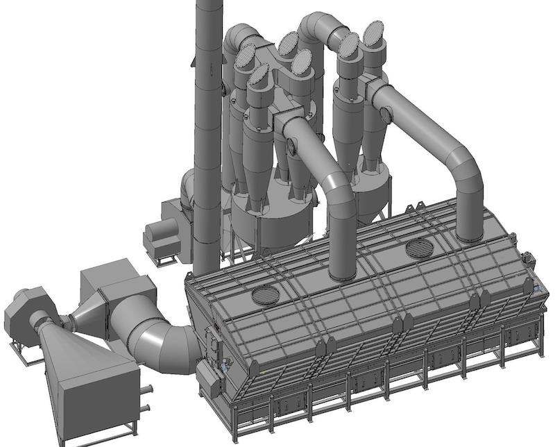 Аппараты сушильные с кипящим слоем СКС модификаций Б