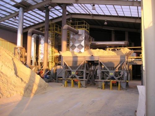 Сушка песка и других минеральных материалов